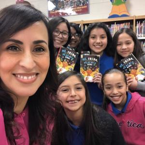 Angela Cervantes school visit
